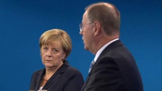 Angela Merkel peut être contrainte de former une coalition avec le parti de centre-gauche.