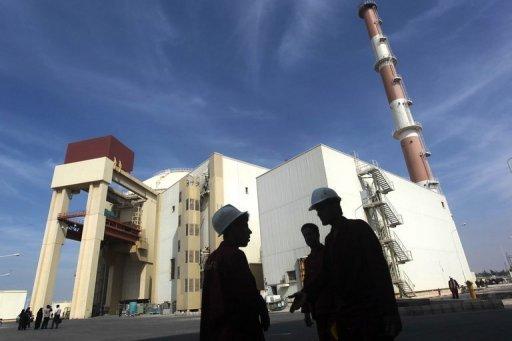 Le bâtiment réacteur de la centrale nucléaire de Bouchehr, de construction russe, photographié 26 Octobre 2013.