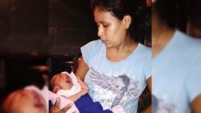 Irma Lopez avec son bébé