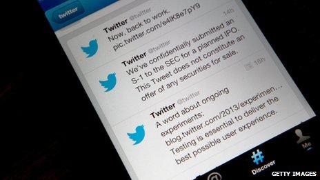 Twitter a annoncé sa décision de  vente d'actions.