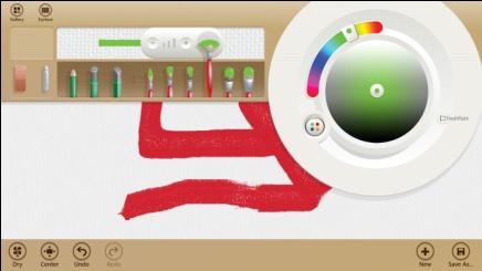 L'application Fresh Paint