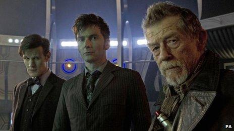 Matt Smith, David Tennant et John Hurt ont tous joué dans l'épisode du 50e anniversaire