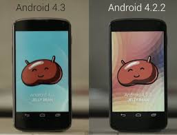 Android 4.3 face à l'Android 4.2.2