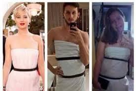 Des personnes tentent à leur façon de recréer la robe Dior de Jennifer Lawrence