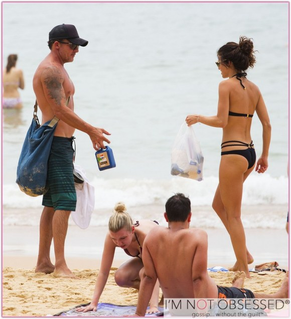 Exclusive... Annalynne McCord & Dominic Purcell Hit The Beach In Sydney