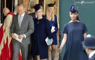 au baptême du prince Goerge, Zara Phillips semble prête à accoucher