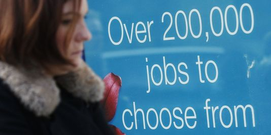 Augmentation du chômage en Grande Bretagne