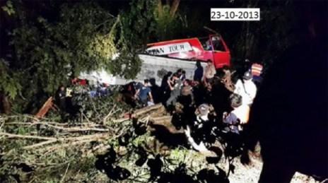 grave accident en Thaïlande