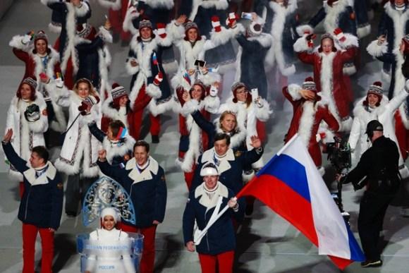 Ceremonie d'Ouverture - Equipe Russie