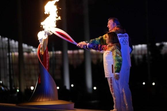 Ceremonie d'Ouverture - Vladislav Tretyak / Irina Rodnina