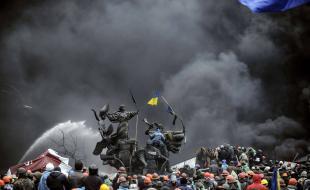 une partie de l'Ukraine réduit en cendre