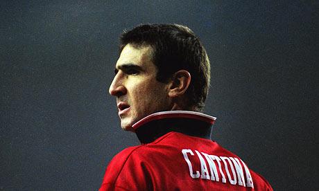 Eric-Cantona du temps qu'il jouait avec Manchester united.