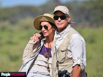 George Clooney et Amal Alamuddin en vacances