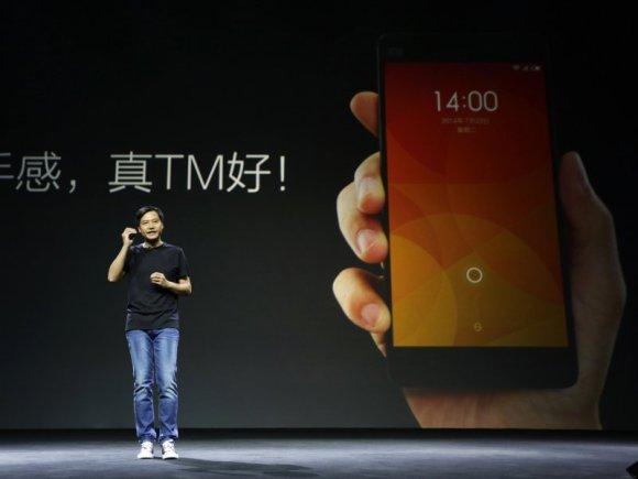 Le PDG de Xiaomi Lei Jun lors de la présentation du Mi4.