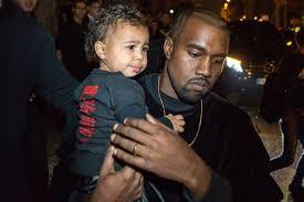 Kanye et North West au défilé Balenciaga