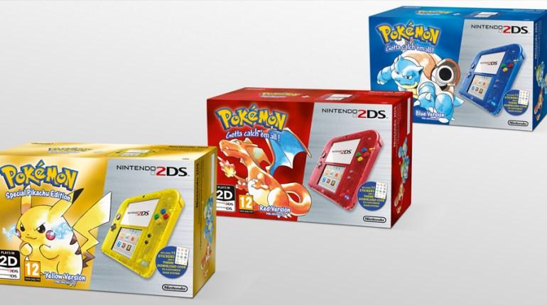 La 2DS et la 3DS changent de look à l'occasion de la sortie de Pokemon Rouge Bleu et Jaune