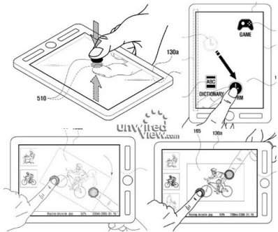 Tablette à écran transparent