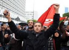 Des étudiants manifestent à Tunis
