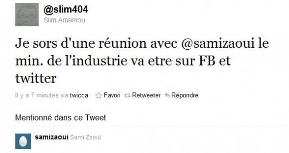 Tweet de Slim Amamou