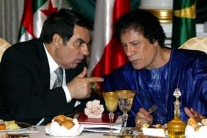 Zine El Abidine Ben Ali & Mouamar Kadhafi