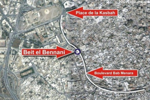 Plan d'accès à Beit el Bennani