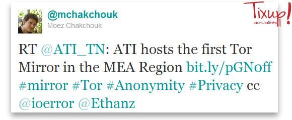 Tweet de Moez Chakchouk