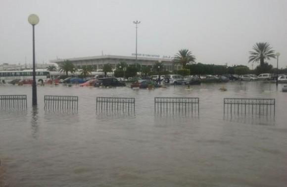 L'aéroport Tunis-Carthage suite aux fortes pluies