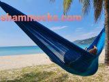 V Weave hammock – monotone blue – Mallard