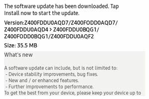 Samsung Z4 Update