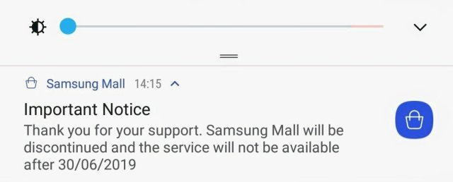 Samsung Mall Shut Down