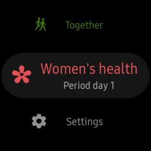 Period Tracker Galaxy Watch