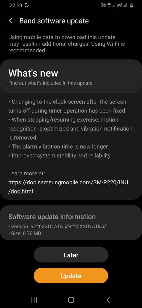 New Galaxy Fit 2 Update