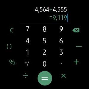 Calculator on Galaxy Watch