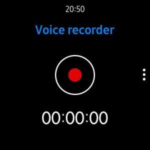 Voice Recorder on Galaxy Watch