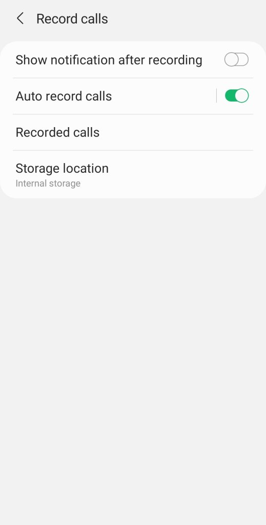 Galaxy S21 Call Records