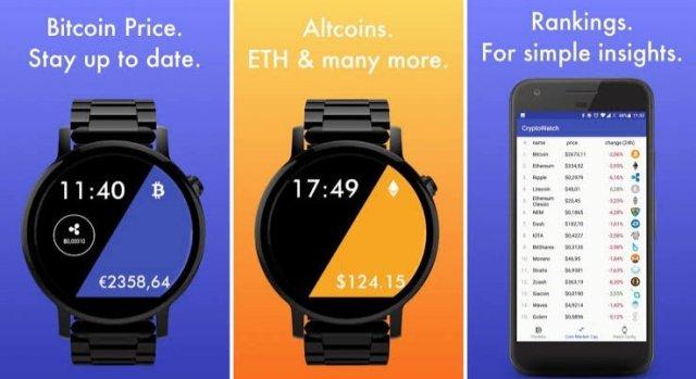 CryptoWatch on Wear OS