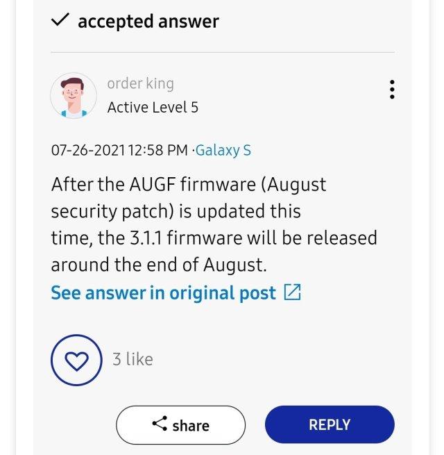 One UI 3.1.1 Update