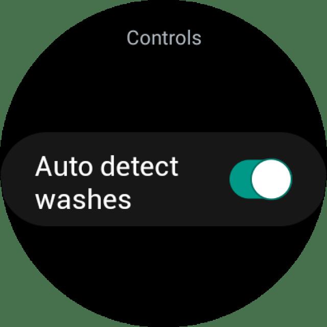 Hand Wash app on Galaxy Watch 4
