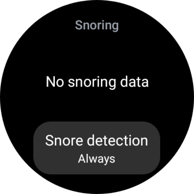 Snore Detection on Galaxy Watch 4 Classic