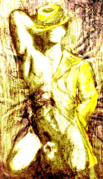 disegno a matita su carta da fotocopie elaborato e colorato con corel painter