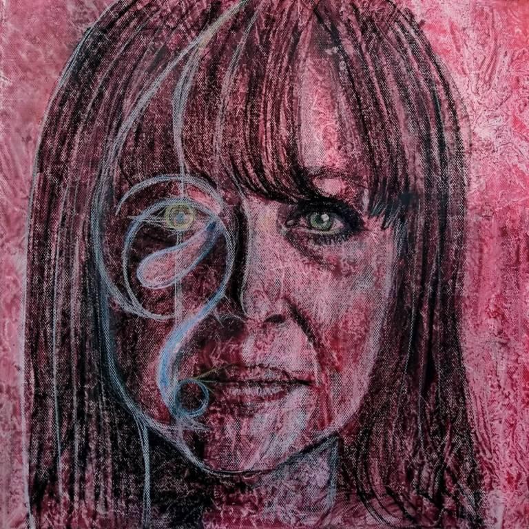 "Analysis ""mixed media on canvas 40x40 cm"