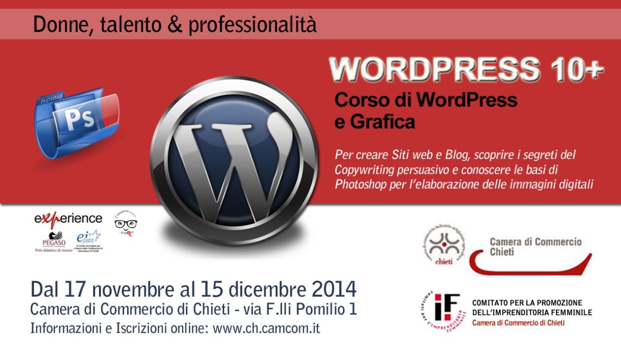 Corso WordPress 10+CCIAA Chieti