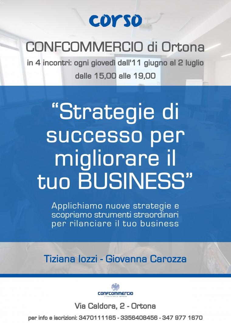 Corso STRATEGIE DI SUCCESSO PER MIGLIORARE IL TUO BUSINESS