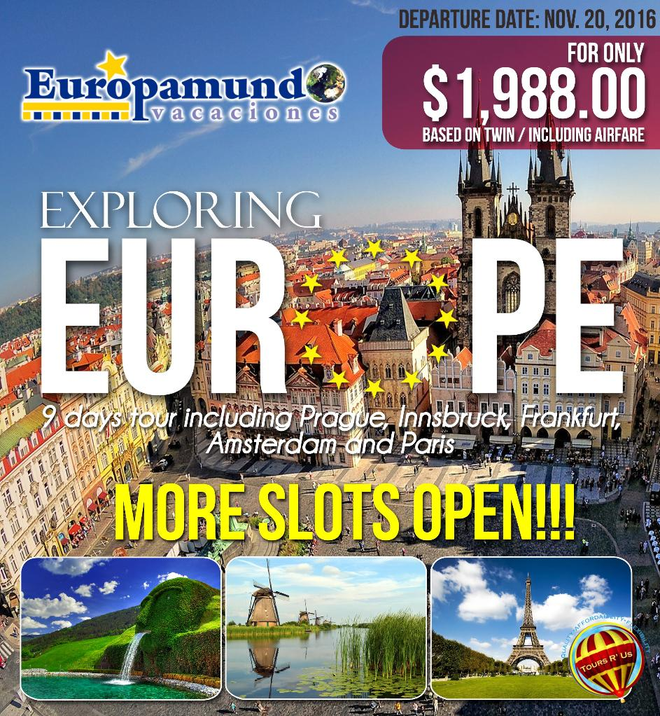 European Travel Packages Including Airfare