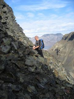 Markus(SVE) på vej op af bjerget