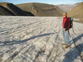 Michel(GER) på isbræen