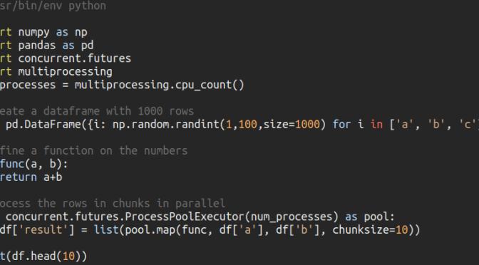Parallel processing pandas dataframes