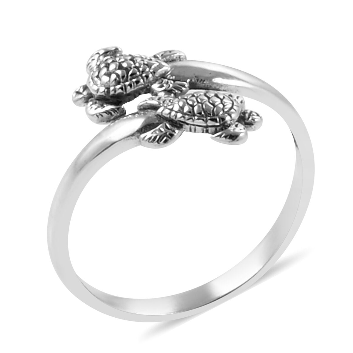 Royal Bali Collection Sterling Silver Turtle Crossover