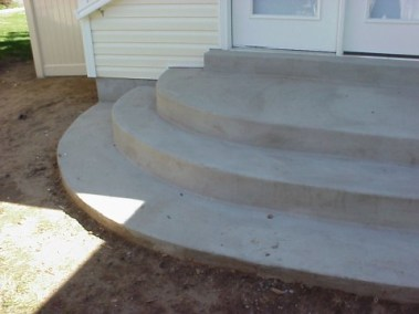 Round stairs on family room addition2