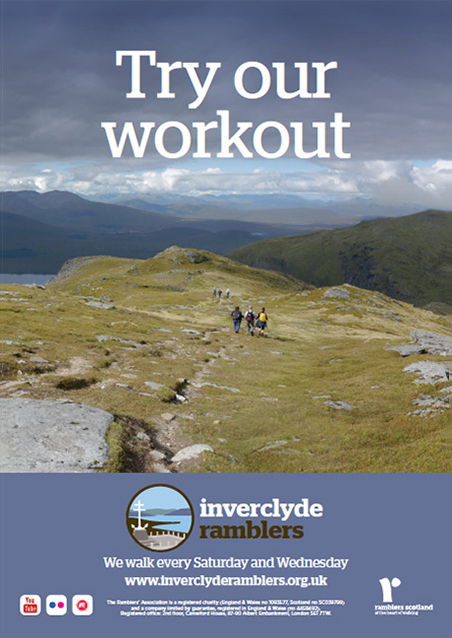 Inverclyde Ramblers gym poster